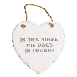 In This House Dog Heart Plaque