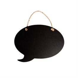 Hanging Chalkboard Speech Bubble Small