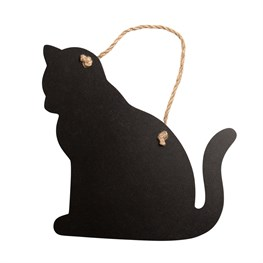 Hanging Chalkboard Cat Small