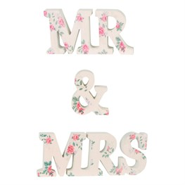 Mr & Mrs Floral Lady Jeanne Letter