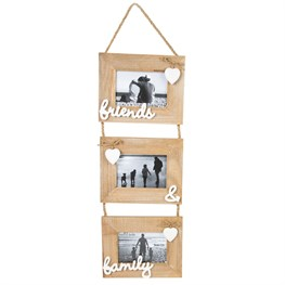 Ashley Farmhouse Friends Family Triple Photo Frame