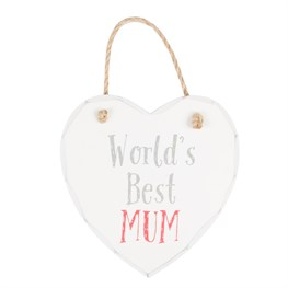 World's Best Mum Heart Plaque