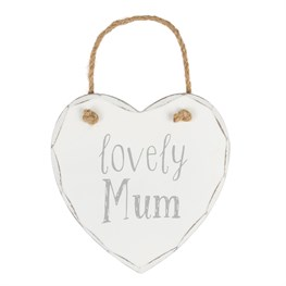 Lovely Mum Heart Plaque