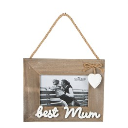 Ashley Farmhouse Best Mum Hanging Photo Frame