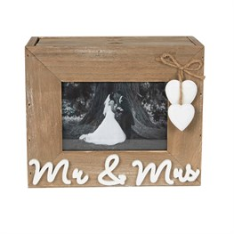 Ashley Farmhouse Mr & Mrs Photo Album with 3 Drawers