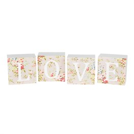 Set of 4 Love Lady Vivienne Block Letters