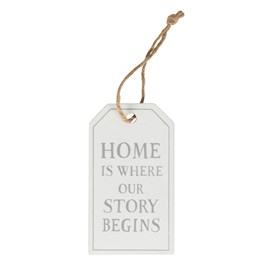 Home is Where Our Story Begins Tag Decoration