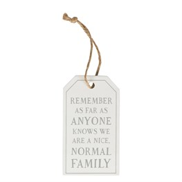 Nice Normal Family Tag Decoration
