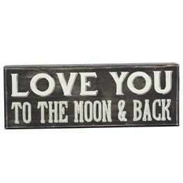 Love You to the Moon Retro Box Frame