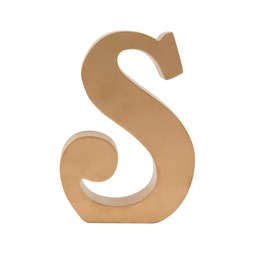 Gold Wooden Letter S Standing Decoration