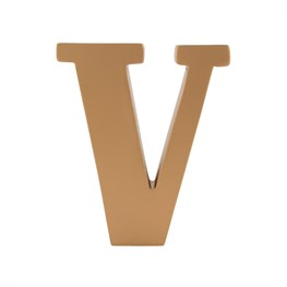 Gold Wooden Letter V Standing Decoration