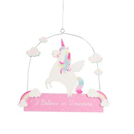 Rainbow Unicorn I Believe Plaque