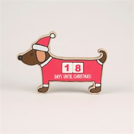 Christmas Dachshund Countdown Blocks