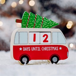 Christmas Camper Van Countdown Blocks