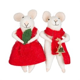 Millie & George Christmas Mouse Standing Decoration - 1 Piece