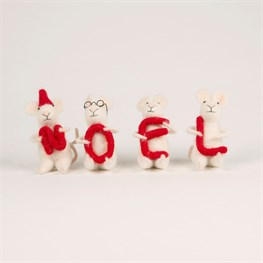 Felt Mice Noel Standing Decoration