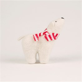 Felt Polar Bear Standing Decoration