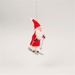 Felt Skiing Santa Decoration