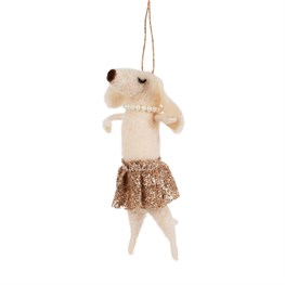 Magic Fairy Dog in Tutu Felt Hanging Decoration