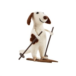 Felt Doggie on Skis Decoration