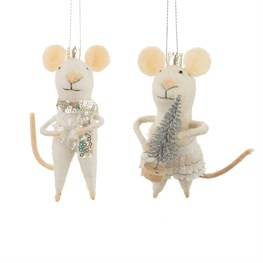 Wonderland King & Queen Mouse Hanging Decoration Set
