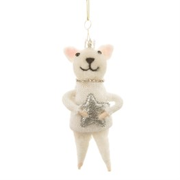 Wonderland Cat Hanging Felt Decoration