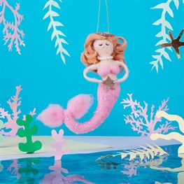 Pink Mermaid Hanging Felt Decoration