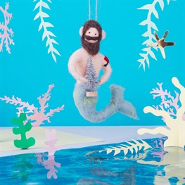 Wonderland Merman Hanging Felt Decoration