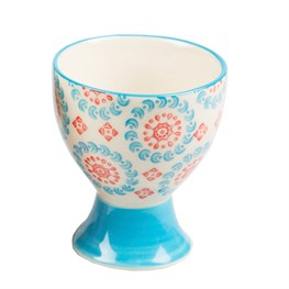Mix & Match Bohemian Egg Cup - Light Blue