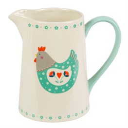 Folk Hen Country Chic Jug