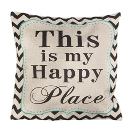 This is My Happy Place Chevron Retro Cushion