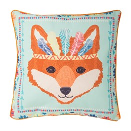 Fox Animal Adventure Pillow Cover