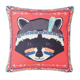 Raccoon Animal Adventure Pillow Cover