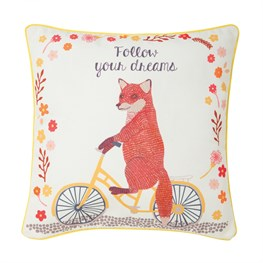 Follow Your Dreams Fox on  Bike Cushion