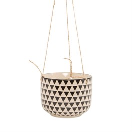 Black Geo Isla Hanging Planter