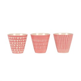 Set of 3 Pink Mini Planters