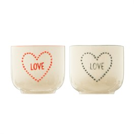 Love Heart Planters - Set Of 2