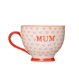 Bohemian Red Hearts Mum Mug