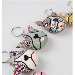 Harvey Dog Face Keyring