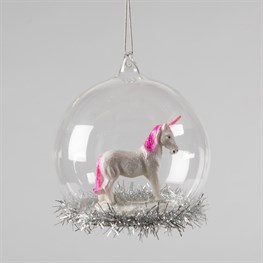 My Little Unicorn Tinsel Dome Bauble