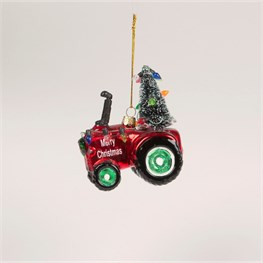 Festive Tractor Bauble