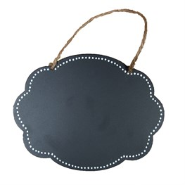 Fancy Oval Hanging Chalkboard