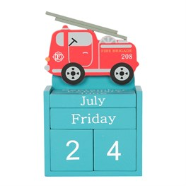 Fire Engine Calendar Block