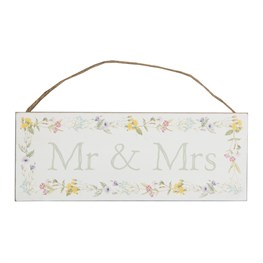 Wildflower Mr & Mrs Plaque