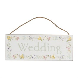 Wildflower Wedding Plaque