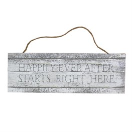 Coastal Chic Happily Ever After Hanging Sign