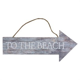 To the Beach Coastal Chic Hanging Sign
