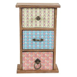 Summer Retro Daisy Set of 3 Drawers Small