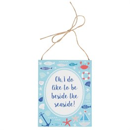Beside the Seaside Hanging Plaque