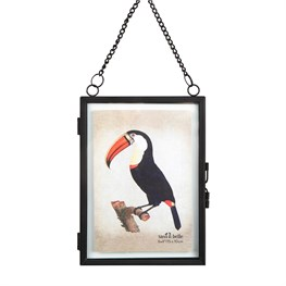 Jet Black Hanging Portrait Photo Frame